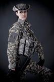 Soldat de femme photo stock