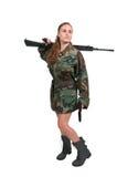 Soldat de femme Photographie stock libre de droits