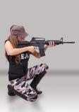 Soldat de femme Photo libre de droits