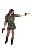 Soldat de femme Images libres de droits