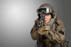 Soldat de forces spéciales Photos libres de droits