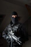 Soldat de forces spéciales après la grève Photo stock
