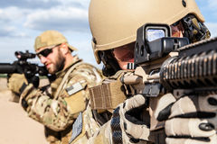 Soldat de groupe de forces spéciales de l'armée américaine Images libres de droits