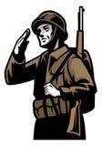 Soldat de guerre mondiale illustration libre de droits