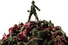 Soldat de jouet, d'isolement sur le fond blanc image libre de droits