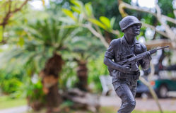 Soldat de jouet en métal Photo libre de droits