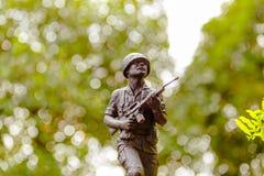 Soldat de jouet en métal Image stock