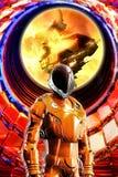 Soldat de l'espace dans l'armure illustration stock