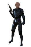 Soldat de la cavalerie étranger avec le raygun Image stock