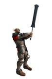 Soldat de lutin avec l'épée géante Photographie stock