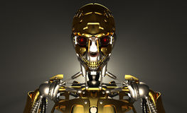 Soldat de robot Photographie stock