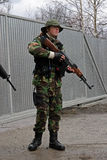 Soldat de SGA Airsoft avec le canon Photo libre de droits