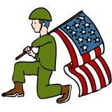 Soldat de vétéran Image stock