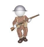 Soldat der Miniatur WW2 Stockfotos