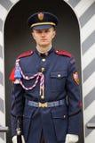 Soldat des Auslese-Prag-Schloss-Schutzes vor Prag-Schloss E Lizenzfreie Stockfotos