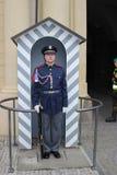 Soldat des Auslese-Prag-Schloss-Schutzes vor Prag-Schloss E Stockbilder