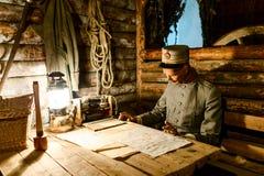 Soldat des Ersten Weltkrieges, Replik Lizenzfreie Stockfotos