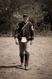 Soldat des syndicats de guerre civile de sépia photo stock