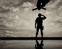 Soldat-docka honnörer Fotografering för Bildbyråer