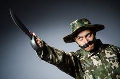 Soldat drôle Photos libres de droits