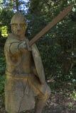 Soldat du 11ème siècle à l'abbaye de bataille dans le Sussex Image libre de droits