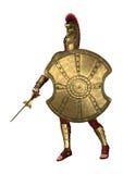 soldat du grec ancien du rendu 3D sur le blanc Photos stock