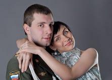 Soldat et fille Photographie stock libre de droits