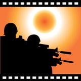 Soldat et le soleil Images libres de droits