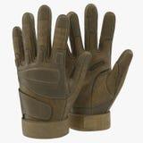 Soldat extérieur des USA de gants de Blackhawk sur le blanc illustration 3D Photo libre de droits