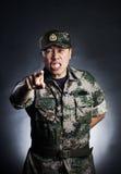 Soldat fâché Images libres de droits