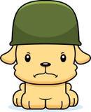 Soldat fâché Puppy de bande dessinée Photo stock