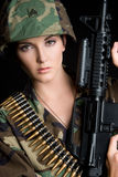 Soldat féminin photos stock