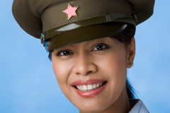 Soldat féminin Images stock