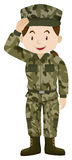 Soldat féminin dans l'uniforme vert illustration de vecteur