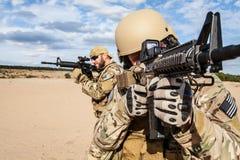 Soldat för grupp för specialförband för USA-armé Fotografering för Bildbyråer