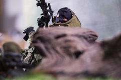 Soldat Figure d'homme de jouet Photographie stock