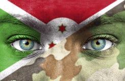 Soldat från Burundi arkivbild