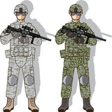 Soldat Full Gear Stockfotografie