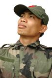 Soldat getrennt lizenzfreie stockbilder