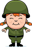 Soldat Girl d'armée Photo libre de droits
