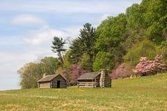 Soldat-Hütten an der Tal-Schmiede Stockbild