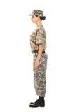 Soldat i den militära likformign Royaltyfri Fotografi