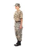 Soldat i den militära likformign Royaltyfria Bilder