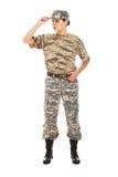 Soldat i den militära likformign Arkivbilder