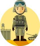 Soldat i likformig Royaltyfri Foto
