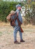Soldat Impérial-royal de montagne de la guerre mondiale 1 images libres de droits