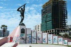 Soldat inconnu de monument à Durres Albanie Images libres de droits
