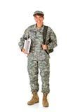 Soldat: Lyckligt att gå tillbaka till skolan Royaltyfria Foton