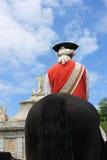 Soldat médiéval sur un cheval Image libre de droits