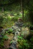 Soldat masqué Image libre de droits